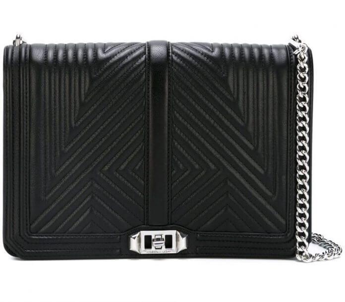 Rebeca Minkoff;Love Crossbody Bag; Silver Hardware; Designer Dupes