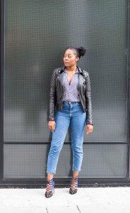 Zara; Stripes; Leather Jacket; Strappy Shoes