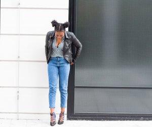 Zara; Stripes; Leather Jacket